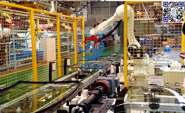 机器人汽车玻璃自动化涂胶生产线
